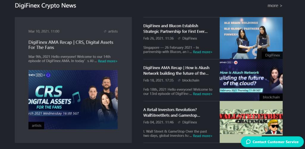 Новости компании Digifinex
