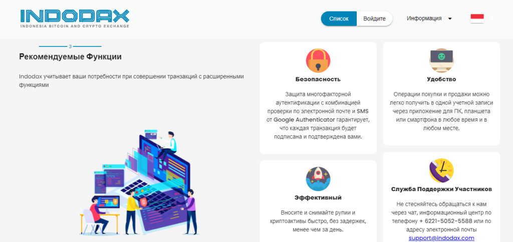 Рекомендации проекта Indodax