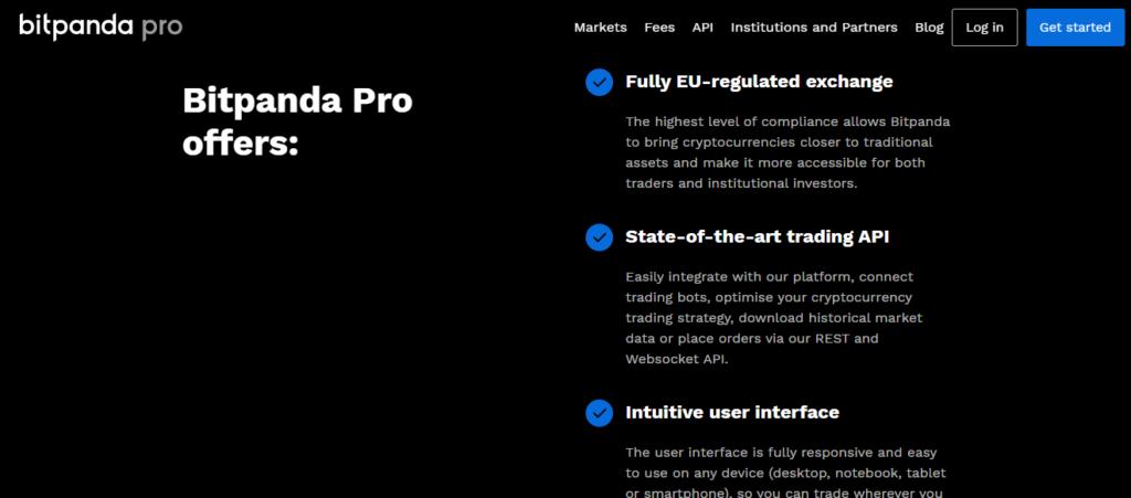 Настройки платформы Bitpanda Pro