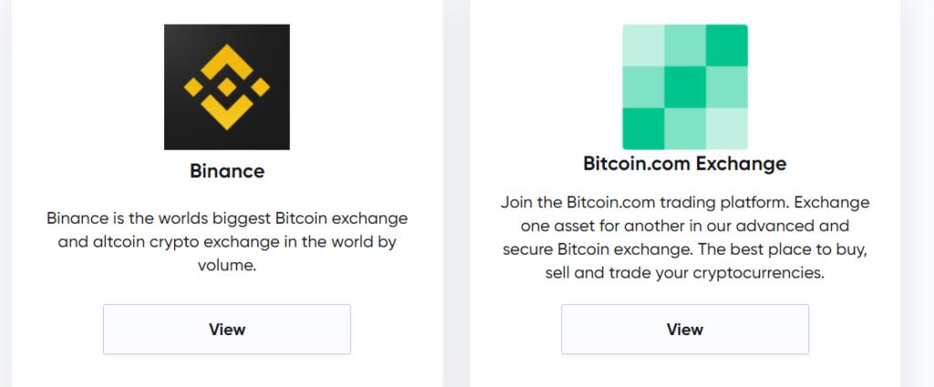 Специальные предложения Bitcoin.com Exchange