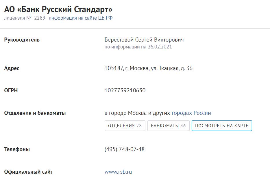 На изображении представлена полная информация о регистрации компании