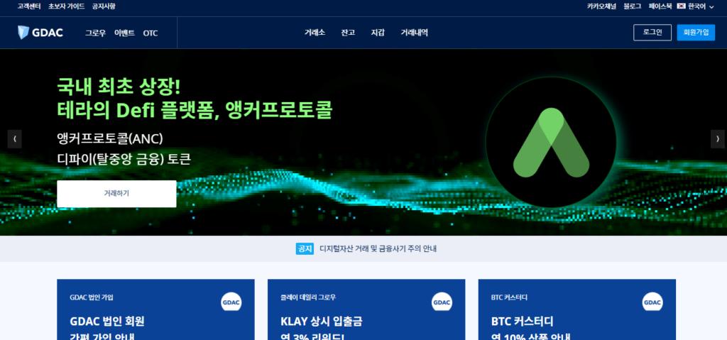 Главная страница платформы GDAC
