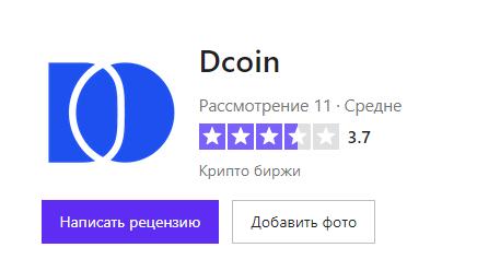 Информация о том, какой рейтинг был выставлен трейдерами компании Dcoin
